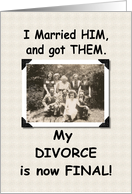 Divorce is Final card