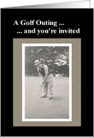 Golf Outing Invitation card