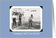 Golf Outing - Funny card