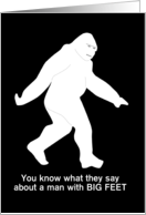 FUNNY Bigfoot Sexy Time Birthday card