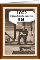 100th Birthday - Guy - FUNNY card