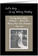 Bridesmaid - Military Wedding card