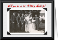 Military Wedding card