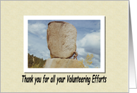 Thank You Volunteer card