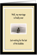 Divorce is final - Humor card