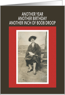 Boob Droop Birthday card