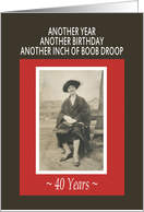 40th Boob Droop Birthday Party Invitation card
