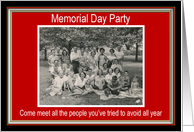 Memorial Day Party Invitation - FUNNY card