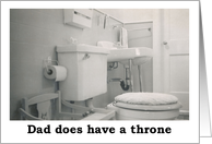 Dad's Throne - Fathers day card