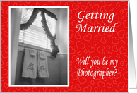 Will you be my Photographer? card