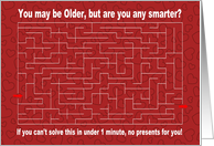 Older, but Smarter? for Girlfriend card