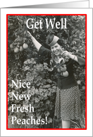 Nice Fresh Peaches - Get Well - Boob Job card