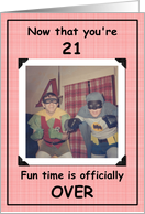21st Birthday - Boy card
