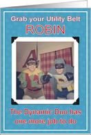 BATMAN and ROBIN - Best Man card