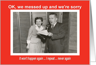 Business Apology - Retro card