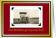 Mechanics auto repair Christmas Holiday thank You card