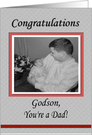 Congratulations Baby Dad Godson card