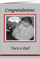 FUNNY Congratulations Baby Dad card