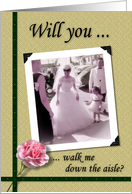 Brother, walk me down the aisle - Nostalgic card