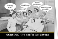 Nurses Learning - Retro - Funny card