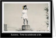 Congratulations MBA Degree Graduation card