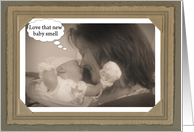 New Baby Congratulations Funny Mom to Dad card