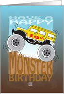 Happy 10th Birthday, Monster Truck card