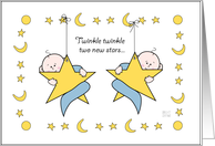 New Baby Twin Boys card