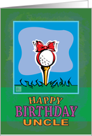 Uncle Happy Birthday Golf ball present card