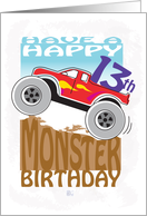 Happy 13th Birthday, Monster Truck card