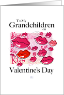 Valentine's Day -Grandchildren-Lips,Love,Kiss card