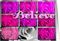 pink believe card