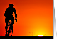 Cycling Sunrise card