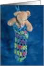 Bear in a Sock card