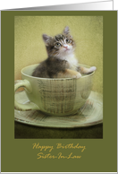 Happy Birthday sister in law with kitten card