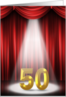 50th wedding anniversary in the spotlight card