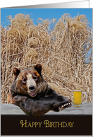 Birthday bear with beer mug card
