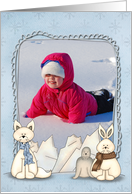 Winter fun Greetings From photo card