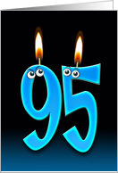 Grandpa's 95th Birthday humor with candles and eyeballs card