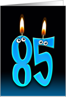 Grandpa's 85th Birthday humor with candles and eyeballs card