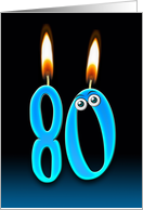 Grandpa's 80th Birthday humor with candles and eyeballs card