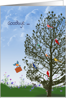Goodbye from the group-birds in tree with squirrels card
