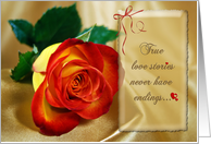 Our Love Story Continues card