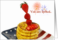 Patriotic Breakfast card