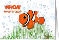 clown fish-birthday-humor card