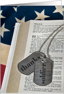 soldier dog tags-Bible-flag card