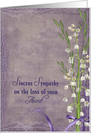 aunt, sympathy, lily of the valley, purple, flower, bouquet card