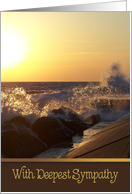 brother, sympathy, wave, rock, sunset, pier, coastal card