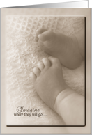 Congratulations on baby girl adoption, baby feet card