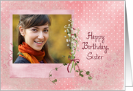 sister, birthday, lily of the valley, photo card